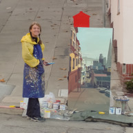 Michelle-Auboiron-Bridges-of-Fame-peinture-live-New-York-San-Francisco-2003--22 thumbnail