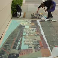 Michelle-Auboiron-Bridges-of-Fame-peinture-live-New-York-San-Francisco-2003--30 thumbnail
