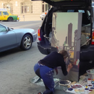 Michelle-Auboiron-Bridges-of-Fame-peinture-live-New-York-San-Francisco-2003--36 thumbnail