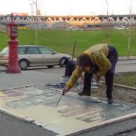 Michelle-Auboiron-Bridges-of-Fame-peinture-live-New-York-San-Francisco-2003--49 thumbnail