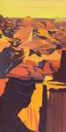 Peinture de l'Ouest américain par Michelle Auboiron - Grand Canyon - Arizona - Lyell Butte