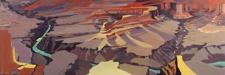 Peinture de l'Ouest américain par Michelle Auboiron - Grand Canyon - Arizona - Pima Point