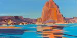 Peinture de l'Ouest américain par Michelle Auboiron - Lake Powell - Utah