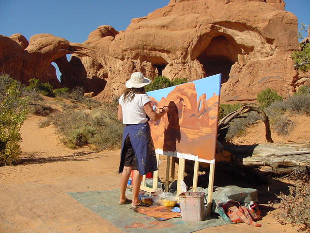 Double Arch - Arches National Park - Moab - Utah - Photo : Charles GUY - 2001