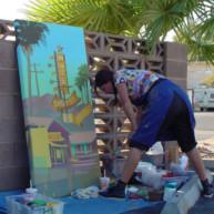 Michelle-Auboiron-Motels-of-the-50-s-peinture-live-a-Las-Vegas-3 thumbnail