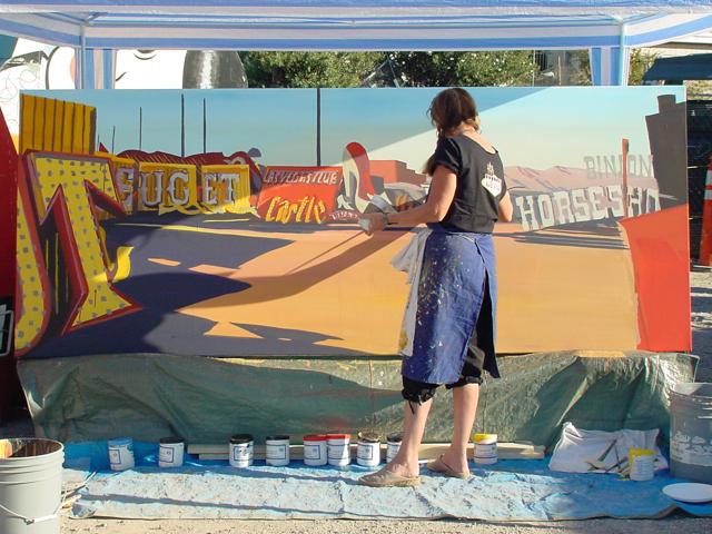 Michelle-Auboiron-Neon-Boneyard-peinture-live-a-Las-Vegas-6