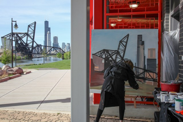 07-Saint-Charles-Air-Line-Bridge-Chicago-painting-Michelle-Auboiron-7