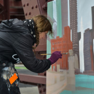 Wells-Street-Bridge-painting-by-Michelle-Auboiron-11 thumbnail