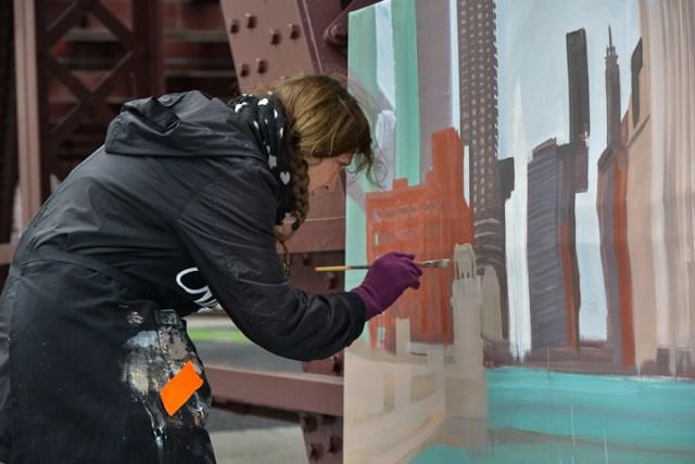 Wells-Street-Bridge-painting-by-Michelle-Auboiron-11