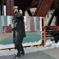 Wells-Street-Bridge-painting-by-Michelle-Auboiron-7 thumbnail