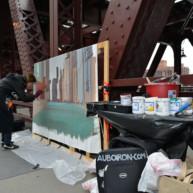 Wells-Street-Bridge-painting-by-Michelle-Auboiron-9 thumbnail