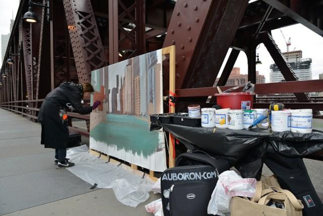 Wells-Street-Bridge-painting-by-Michelle-Auboiron-9
