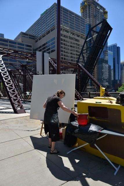 Kinzie-strett-Bridge-Chicago-painting-by-Michelle-Auboiron-2
