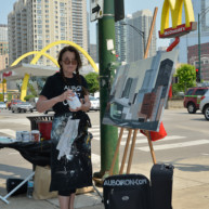 Mac-Donald-s-Chicago-Clark-Ontario-Peinture-Painting-by-Michelle-Auboiron-2 thumbnail
