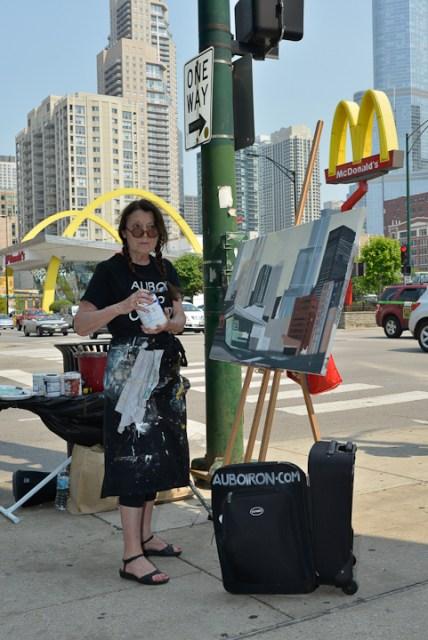 Mac-Donald-s-Chicago-Clark-Ontario-Peinture-Painting-by-Michelle-Auboiron-2