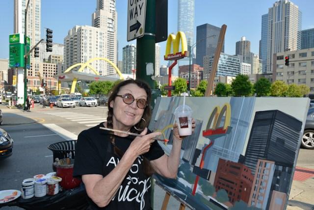 Mac-Donald-s-Chicago-Clark-Ontario-Peinture-Painting-by-Michelle-Auboiron-7