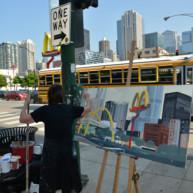 Mac-Donald-s-Chicago-Clark-Ontario-Peinture-Painting-by-Michelle-Auboiron-9 thumbnail