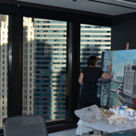 Trump-Tower-and-Chicago-River-Painting-by-Michelle-Auboiron-6 thumbnail