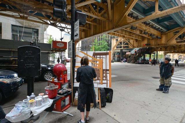 Van-Buren-Dearborn-Chicago-Paining-by-Michelle-Auboiron-5