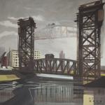 Peinture de Chicago par Michelle AUBOIRON - Painting of Chicago by Michelle AUBOIRON - Canal Street railroad Bridge
