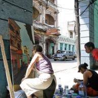 michelle-auboiron-peintre-en-action-a-la-havane-5 thumbnail