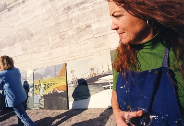 Vernissage-Exposition-Les-Ponts-de-Paris-peintures-de-Michelle-Auboiron-avec-la-galerie-Verneuil-Saints-Peres-Paris-quai-du-Louvre-3