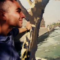 Vernissage-Exposition-Les-Ponts-de-Paris-peintures-de-Michelle-Auboiron-avec-la-galerie-Verneuil-Saints-Peres-Paris-quai-du-Louvre-6 thumbnail