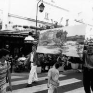 Vernissage-Exposition-Les-Ponts-de-Paris-peintures-de-Michelle-Auboiron-retour-en-fanfare-a-la-galerie-Verneuil-Saints-Peres-Paris thumbnail