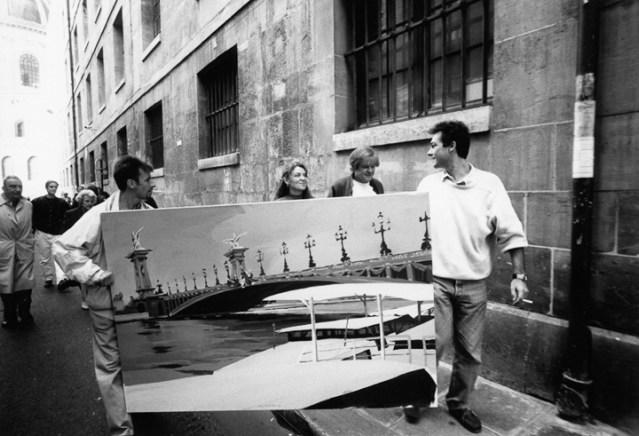 Vernissage-Exposition-Les-Ponts-de-Paris-peintures-de-Michelle-Auboiron-retour-en-fanfare-a-la-galerie-Verneuil-Saints-Peres-Paris-3