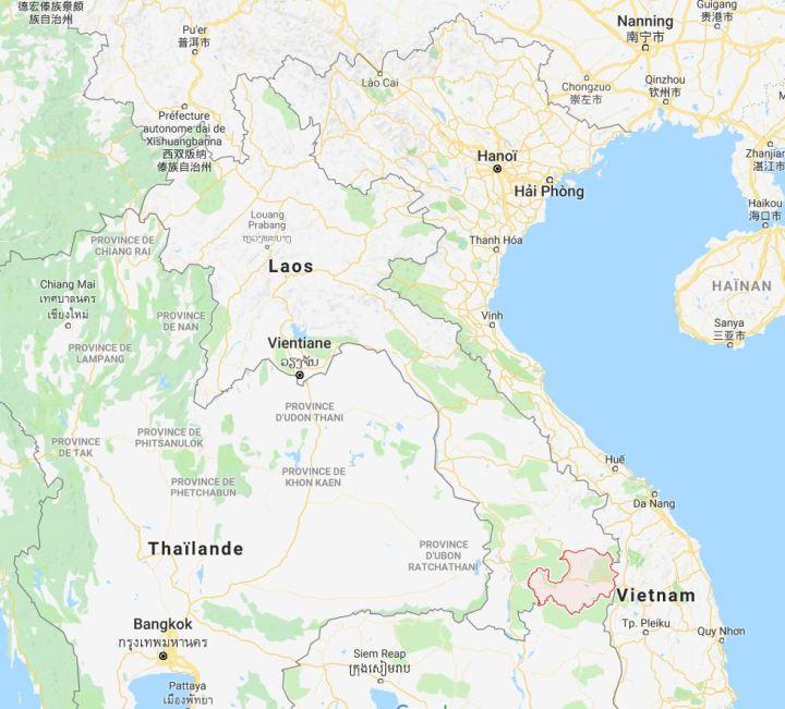 carte laos attapeu