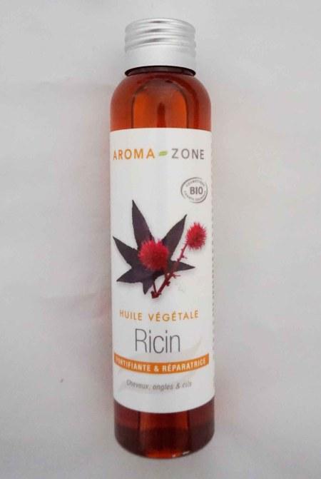 huile végétale ricin aroma zone bio naturel