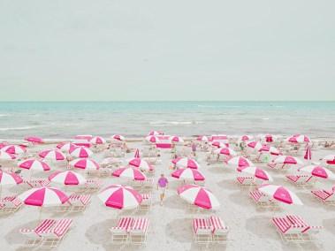 2. pink umbrellas