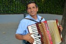 Blind accordion player in Spain