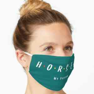 Horses My Passion Face Mask