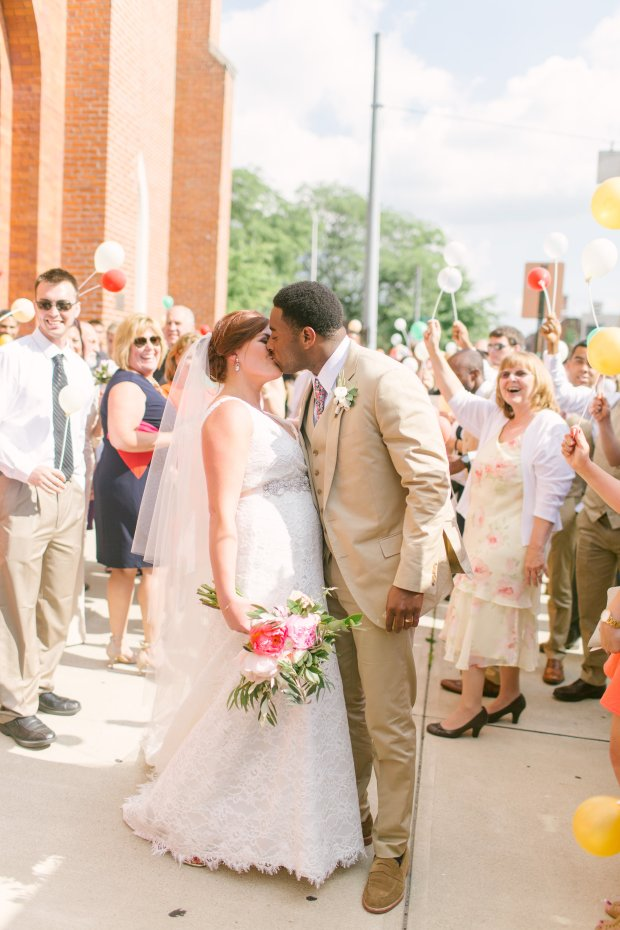 gorgeous coral wedding inspiration, wedding exit ideas