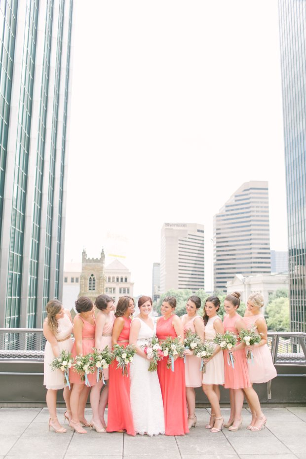 coral bridesmaid style inspiration