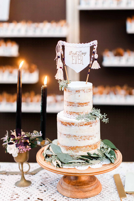 unique wedding cake-topper, naked cake