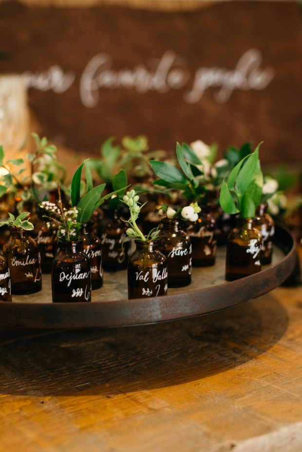 unique escort cards autumn wedding