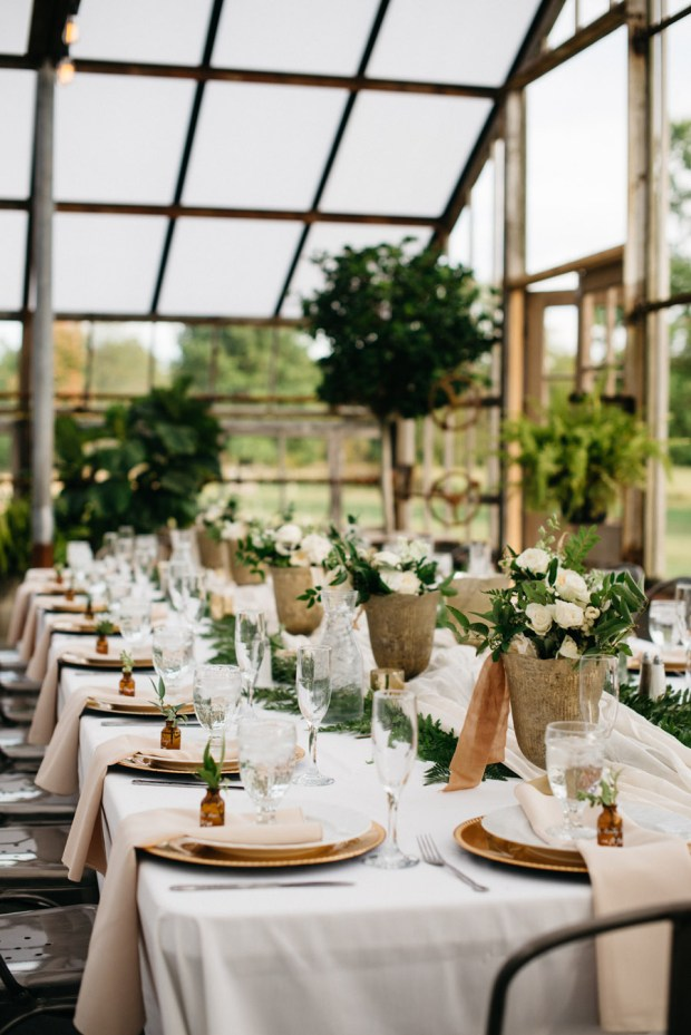 gorgeous, earthy tablescape Oak Grove