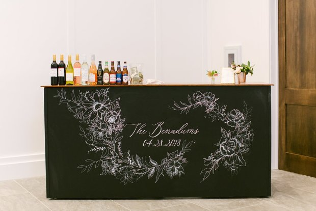 custom chalkboard bar
