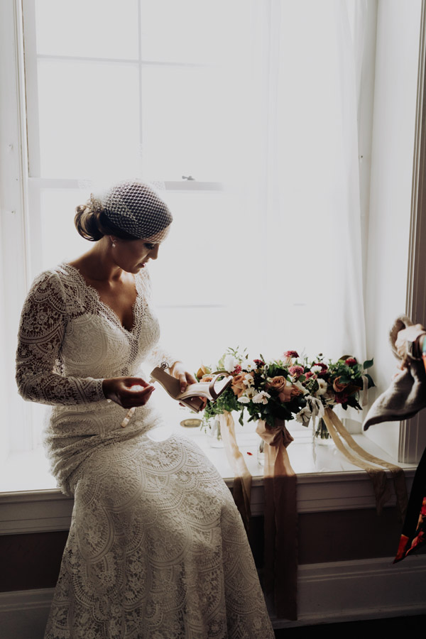 southern inspired bridal look