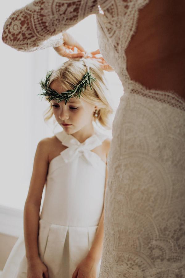 fine art flower girl style