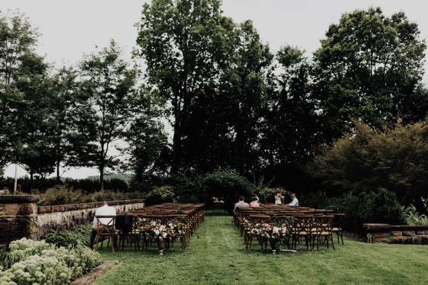 garden wedding ceremony inspiration at Bryn Du Mansion