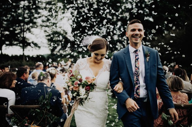 The best confetti wedding exits