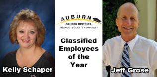 ASD employee of the year, Kelly Schaper, Jeff Grose, school board, Pathways Program, Rainier Middle School,