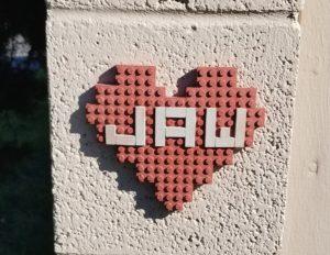Auburn Heart, Auburn Hearts, Lego Heart, Clay Heart, Street Art, Guerilla art, City of Auburn