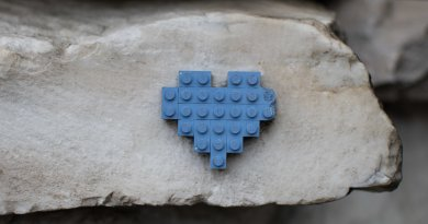 Key Bank Heart, Auburn HEarts, Lego Heart, Brick Heart, Hearts around Auburn