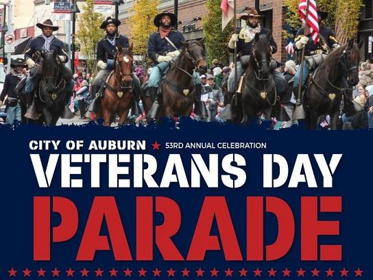 Auburn honors Veterans with 53rdAuburn's Veterans Day Parade