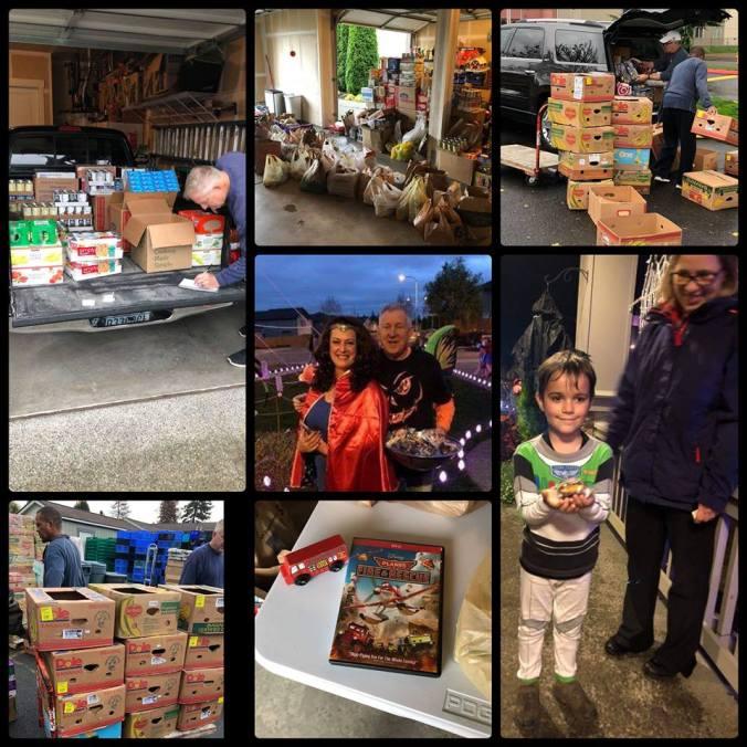 Diego Moreno Food Drive, Diego Moreno, Sandi Green, Randy Green, Auburn Food Bank, Lakeland Hills, Auburn, Halloween Food Drive,