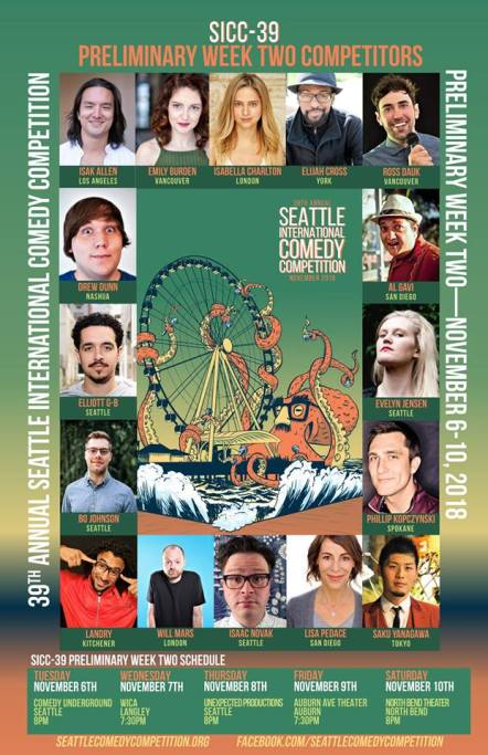 Seattle International Comedy Competition comes to the Auburn Avenue Theater, SICC, auburn ave